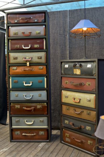 luggage suitcase shelf dresser